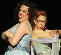 Mary Testa and Jackie Hoffman in Xanadu.