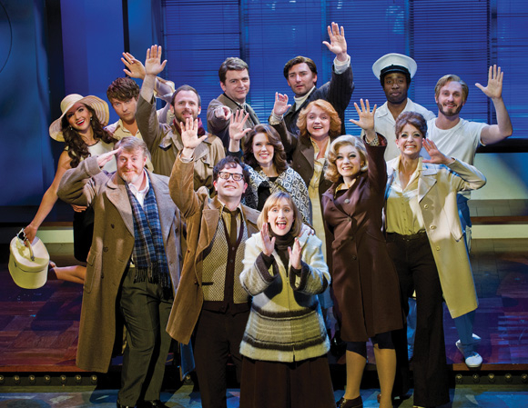 Jenna Russell and the cast of Merrily We Roll Along