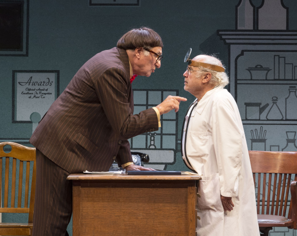 Judd Hirsch and Danny DeVito in Neil Simon's The Sunshine Boys.