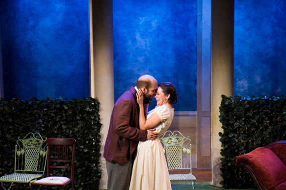 Slate Holmgren and Rachel Spencer Hewitt in The Seagull.