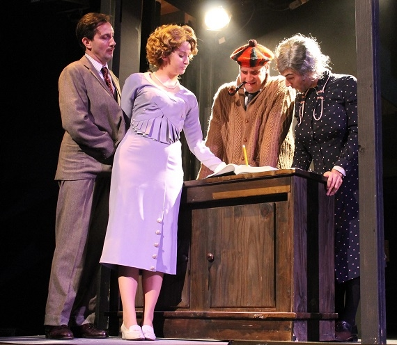 A scene from The 39 Steps at White Plains Performing Arts Center.