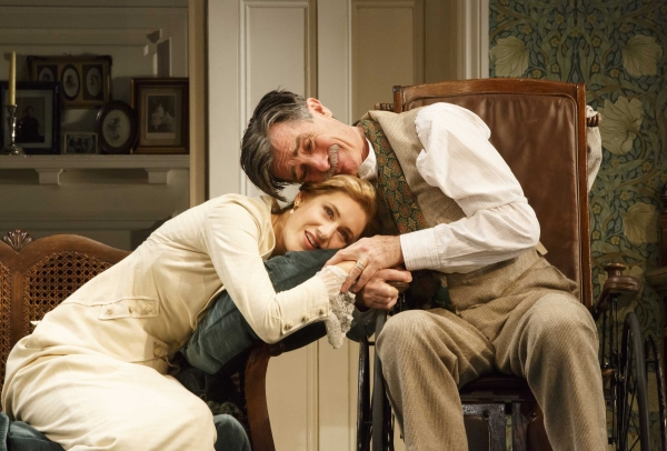 Charlotte Parry and Roger Rees in The Winslow Boy at the American Airlines Theatre.