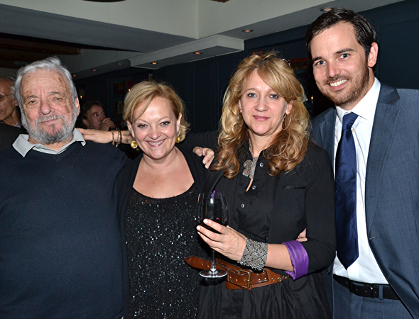 Stephen Sondheim, Maria Friedman, Sonia Friedman, and Tom Shaw.