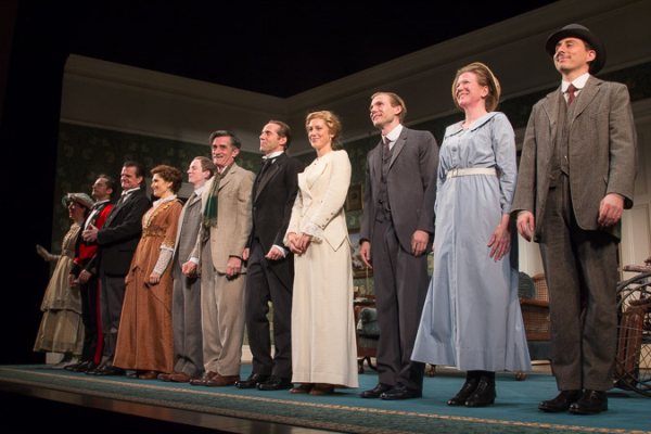 The cast of The Winslow Boy takes a bow.