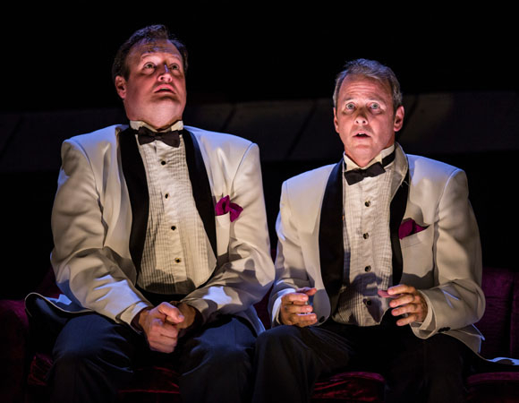 Eric Slater and Guy Massey in ''Smokefall' at the Goodman Theatre.