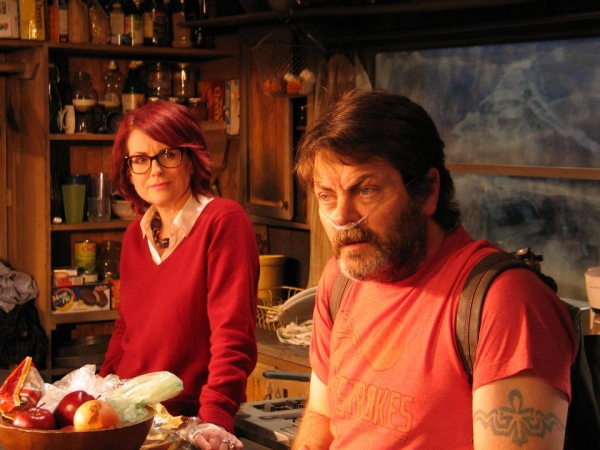 Megan Mullally and Nick Offerman in Annapurna
