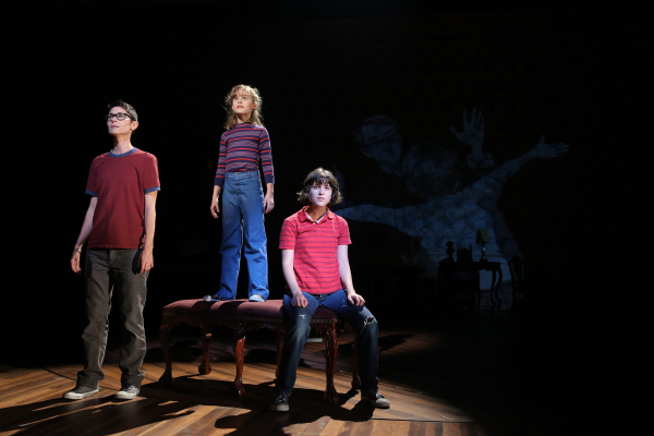Beth Malone, Sydney Lucas, and Alexandra Socha in Fun Home