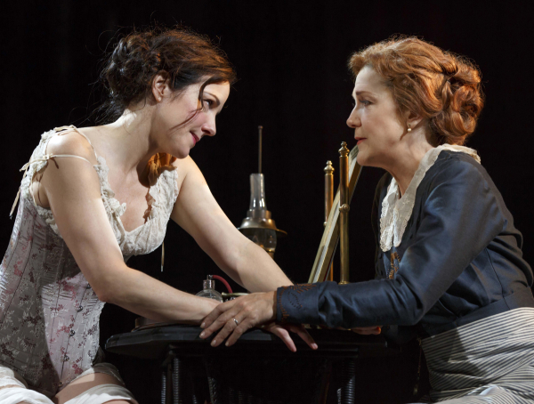 Mary-Louise Parker and Victoria Clark as sisters Elizabeth and Clarissa in The Snow Geese.