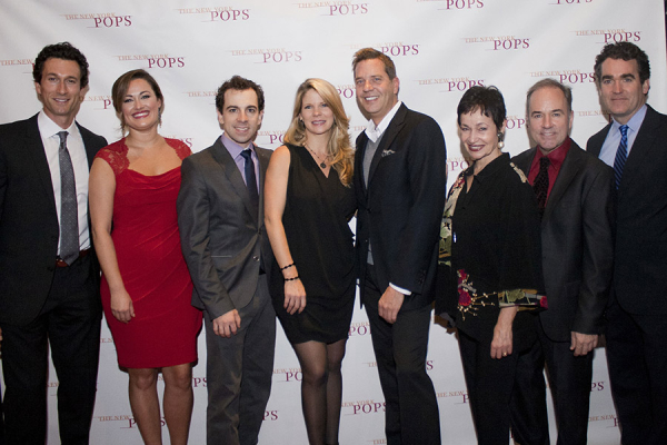 New York Pops PopsEd Ambassadors Aaron Lazar, Ashley Brown, Rob McClure, Kelli O'Hara, Steven Reineke, Lynn Ahrens, Stephen Flaherty, and Brian d'Arcy James.