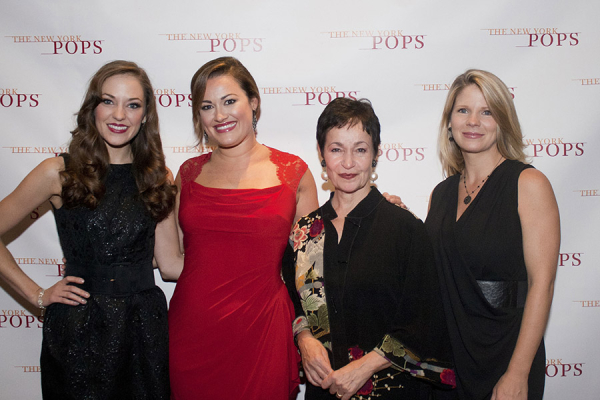New York Pops PopsEd Ambassadors Laura Osnes, Ashley Brown, Lynn Ahrens, and Kelli O'Hara.