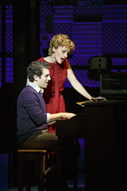 Jarrod Spector and Anika Larsen in Beautiful - The Carole King Musical.