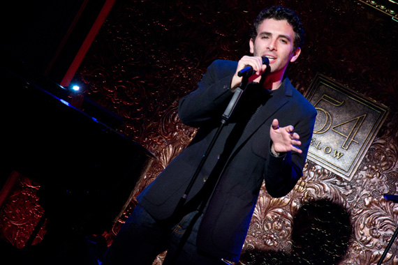 Jarrod Spector on stage at 54 Below.