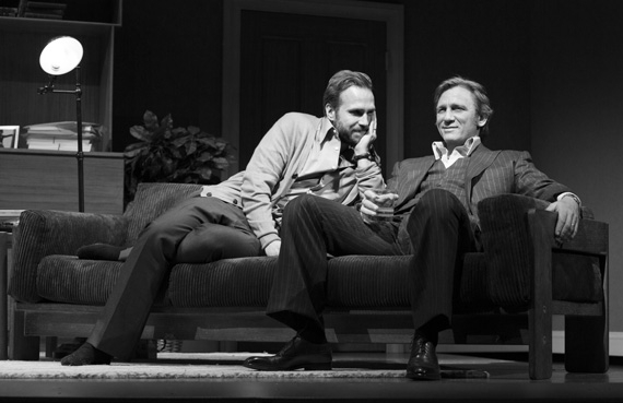 Rafe Spall and Daniel Craig in Betrayal.
