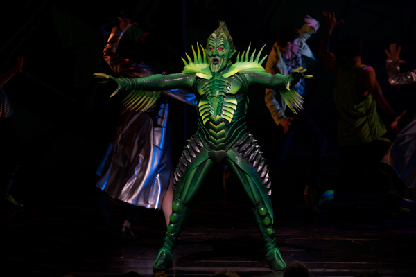 Patrick Page as the Green Goblin.