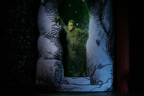 Patrick Page dons green again as the Grinch.
