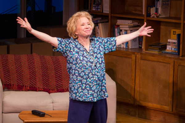 Debra Jo Rupp brings audience members to their feet at the curtain call.