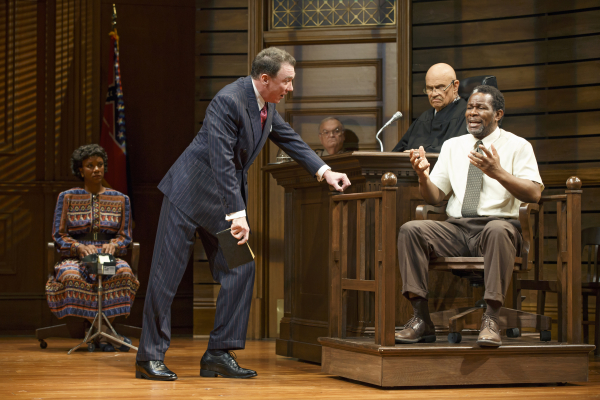 Tijuana Ricks, Patrick Page, Fred Dalton Thompson, and John Douglas Thompson in A Time to Kill.