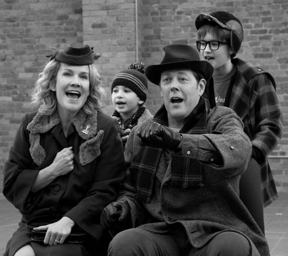 The Parker Family: Erin Dilly as Mother, Noah Baird as Randy, John Bolton as The Old Man, and Jake Lucas as Ralphie.