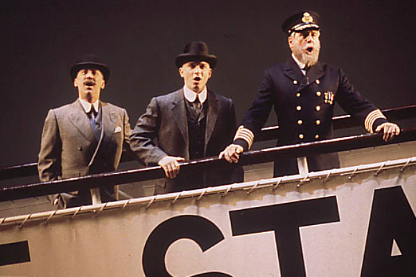 David Garrison, Michael Cerveris, and John Cunningham in Titanic on Broadway.