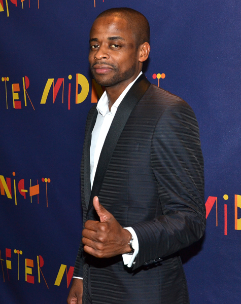 Dulé Hill gives us the thumbs-up.