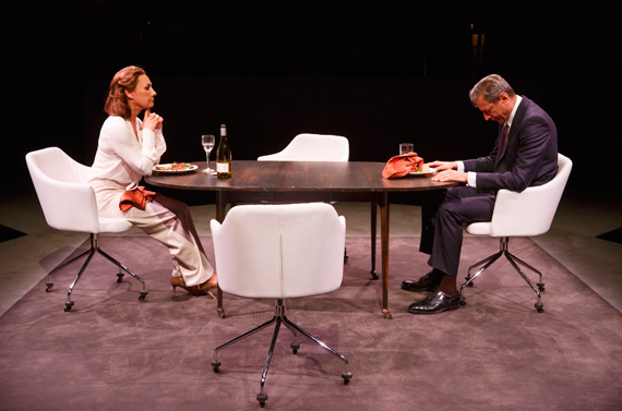 Laurie Metcalf and Jeff Goldblum in Domesticated.