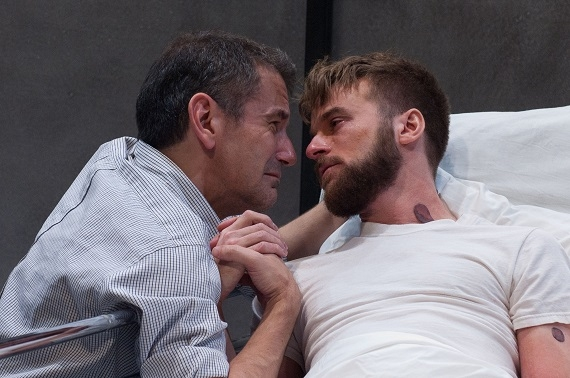 David Cromer and Patrick Andrews in The Normal Heart at TimeLine Theatre.