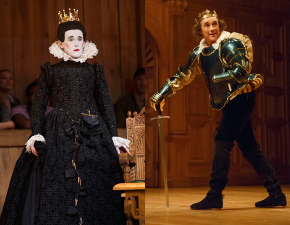 Mark Rylance as Olivia in Twelfth Night and Richard III in Richard III.