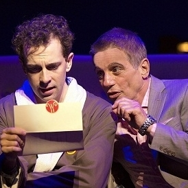 Rob McClure with Tony Danza in Honeymoon in Vegas at Paper Mill Playhouse.
