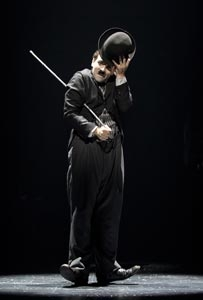 Rob McClure in Chaplin on Broadway.