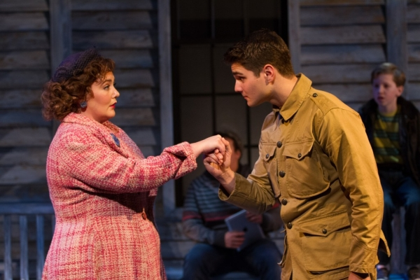 Tracy Lynn Olivera and Austin Colby in Crossing at Arlington, Virginia's Signature Theatre.