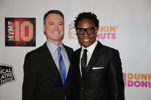NYMF Executive Director Dan Markley and Billy Porter.
