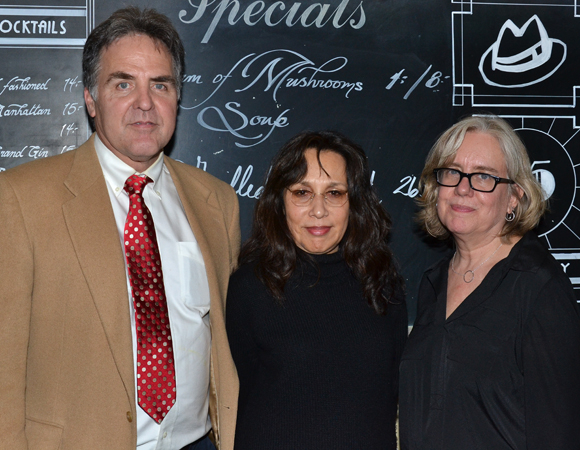 Playwrights Horizons' artistic director Tim Sanford joins playwright Marlane Meyer and director Lisa Peterson for a photo.