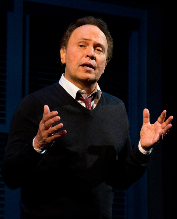 Billy Crystal onstage at the Imperial Theatre.