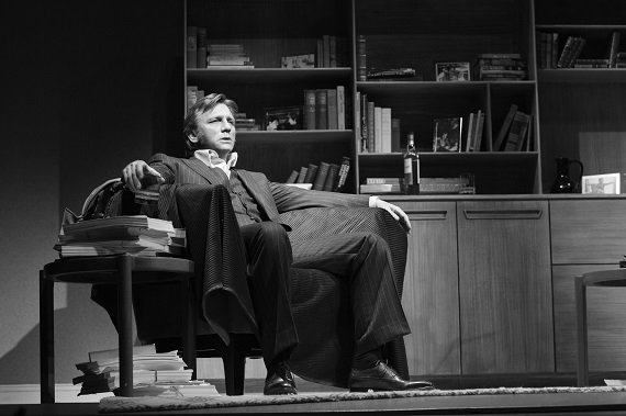 Daniel Craig as Robert in Harold Pinter's Betrayal, directed by Mike Nichols, at the Barrymore Theatre on Broadway.