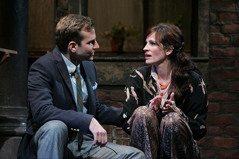 Bradley Cooper and Julia Roberts in Richard Greenberg's Three Days of Rain, directed by Joe Mantello, at the Bernard B. Jacobs Theatre on Broadway, 2006.