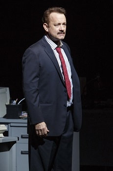 Tom Hanks in Nora Ephron's Lucky Guy, directed by George C. Wolfe, at the Broadhurst Theatre on Broadway, 2013.