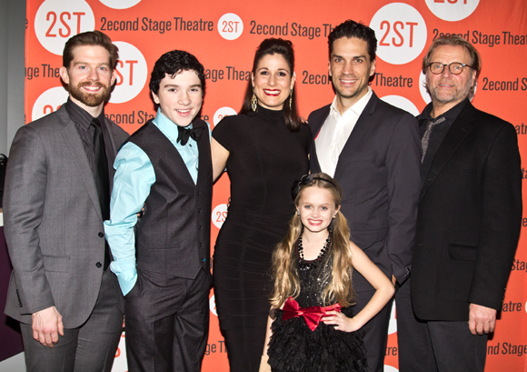 The principal cast of Little Miss Sunshine: Rory O'Malley, Logan Rowland, Stephanie J. Block, Hannah Nordberg, Will Swenson, and David Rasche.