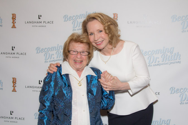 Dr. Ruth K. Westheimer and Becoming Dr. Ruth star Debra Jo Rupp.