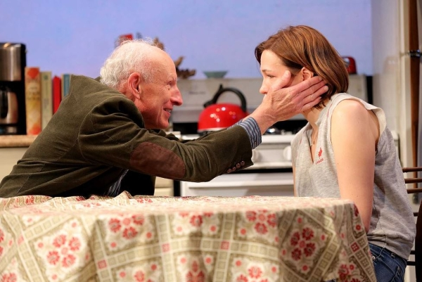 James Rebhorn and Rebecca Henderson in Too Much, Too Much, Too Manny at Roundabout Underground.