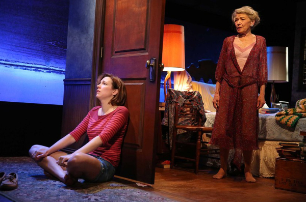 Rebecca Henderson and Phyllis Somerville in Too Much, Too Much, Too Many.