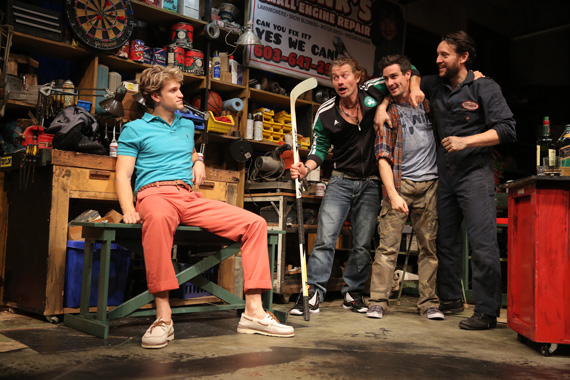 Keegan Allen, James Badge Dale, James Ransone, and John Pollono in Small Engine Repair.