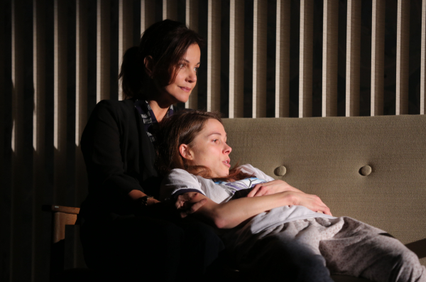 Margaret Colin and Kristen Bush in Manhattan Theatre Club's Taking Care Of Baby.