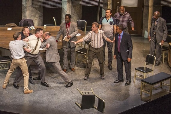 The cast of Twelve Angry Men at Pasadena Playhouse.