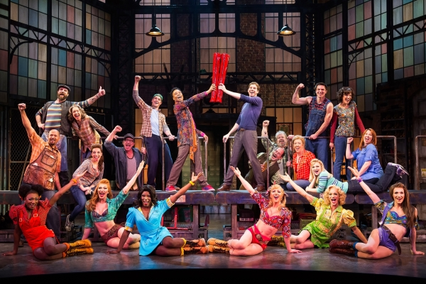 A scene from Kinky Boots at the Al Hirschfeld Theatre.