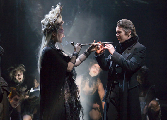 Francesca Faridany and Ethan Hawke in Macbeth at Lincoln Center Theater.