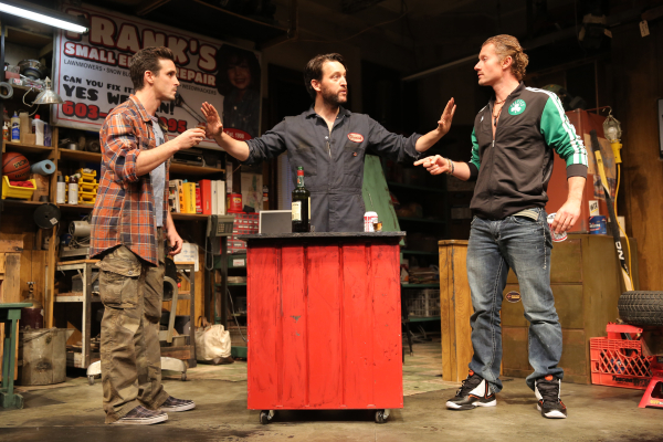 Keegan Allen, James Badge Dale, John Pollono, and James Ransone in Small Engine Repair.