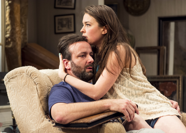 Stef Tovar and Leah Karpel in Appropriate at Victory Gardens Theater.