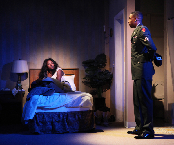 Rutina Wesley and Grantham Coleman in a scene from Charles Fuller's One Night...