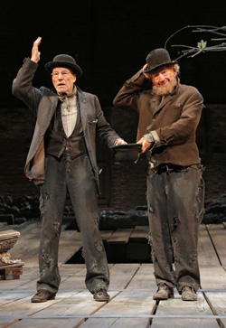Patrick Stewart and Ian McKellen in Waiting for Godot.