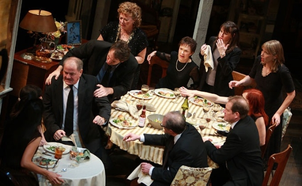 The cast of Broadway's August: Osage County might have better spent their dinner time at the theater.